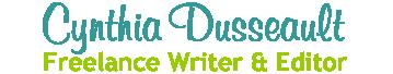 cynthiadusseault.ca | Freelance Writer & Editor